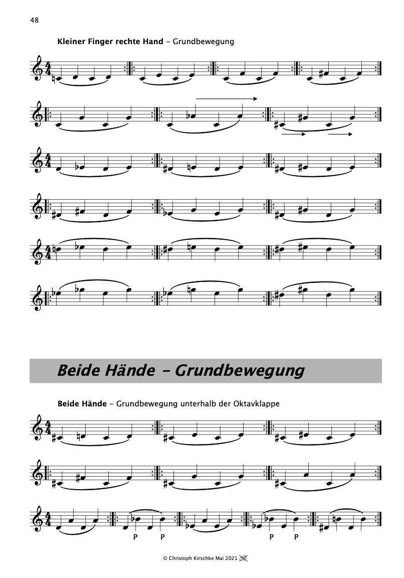 Christoph Kirschke – Saxophon lernen und spielen – Unterricht und Musikstücke – Mein Saxophone Buch, S. 36-37
